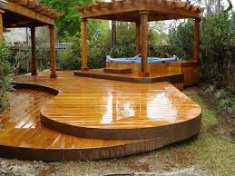 wooden deck with railing and tub amazing outdoor tub