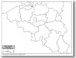 belgium map outline outline map of belgium with provincial state boundaries by