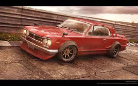 nissan skyline 2014 custom red baron u2013 nissan skyline 72 kimmo kaunela 3d vehicle