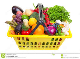 fruit and vegetable baskets fruit and vegetables basket stock photos image 24502463
