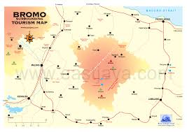 Map Java Map Of Bromo Area Bromo Mountain Tourism Bromo Map