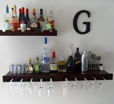 Shelves On Wall by Bar Shelf On Wall Perplexcitysentinel Com