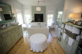elegant shabby chic bathroom vanity sets with ottoman on brown laminated wood floor jpg