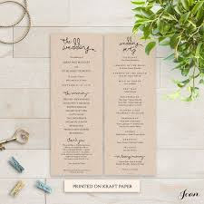 Order Wedding Programs 25 Best Wedding Programs Diy Printable Wedding Order Of Service