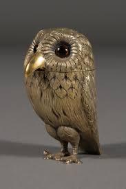 owl item english sterling silver owl form mustard pot london 1972 modernism
