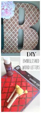 Decorating Wooden Letters For Nursery Diy Gift Ideas Decorated Wooden Letters The Home Depot