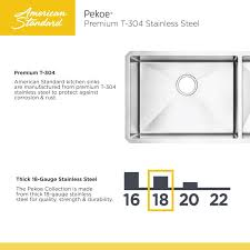 american standard pekoe kitchen faucet faucet 18db 9351800 075 in stainless steel by american standard