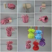 best 25 diy yarn ornaments ideas on diy