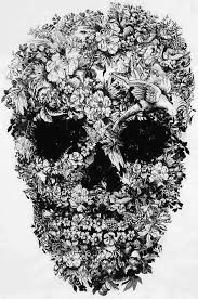 collection of 25 floral skull design