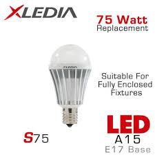 e17 led light bulb xledia 75 watt equal led light bulb e17 base earthled com