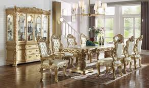 Gold Dining Room by 712 Cameron Dining Room Set In Rich Gold U0026 Navy By Meridian