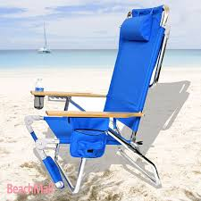 Beach Lounge Chair Amazon Com Beachmall Beach Chair With Drink Holder And Storage