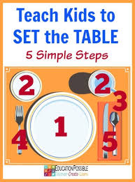How To Set A Table Kids To Set The Table In 5 Simple Steps