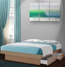 elegant california king platform bed with drawers modern king