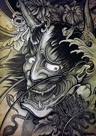 hannya mask samurai tattoo hannya mask a similar style to the demons in the story demons