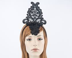 lace fascinator black crown lace fascinator buy racing fascinators hats online
