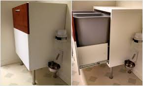 kitchen garbage cabinet besta dog proof recycle and trash cabinet ikea hackers