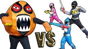 power ranger halloween costumes for kids giant monster egg vs black bue pink power rangers dino charge kids