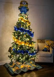 theme christmas tree minions christmas tree theme pop culture christmas trees 2015