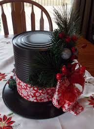 diy christmas table decor ideas snowman hat centerpieces made from