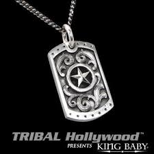 baby dog tags west large king baby dog tag in sterling silver