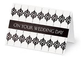 what to say in a wedding card current
