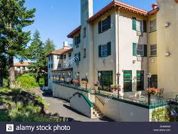 hotels in river oregon the historic columbia gorge hotel in the town of river stock