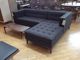 Navy Blue Tufted Sofa by Living Room Classic Brown Tufted Acton Leather Chesterfield Sofa
