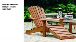 outdoor interiors cd3111 eucalyptus adirondack chair youtube