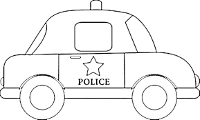 coloring police car colouring pages vehicles gekimoe