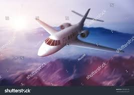 luxury private jets luxury private jet flying over mountains stock illustration