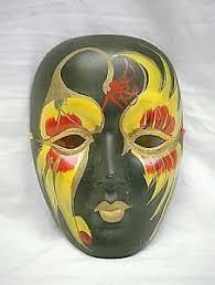 mardi gras ceramic masks classic yellow mardi gras mask new orleans wall porcelain
