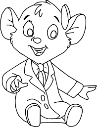 the great mouse detective oli cartoon coloring pages wecoloringpage