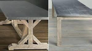 metal top kitchen table steel top dining table kitchen ideasfarmhouse dining room table