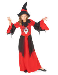 red spider witch costume for girls vegaoo