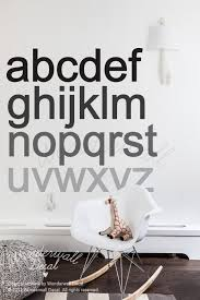 Alphabet Wall Decals For Nursery Monochrome Alphabets Wall Decal For Minimalist Nursery Be Amazed