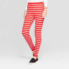 Womens Christmas Candy Cane Striped Sweater Leggings  33 Degrees