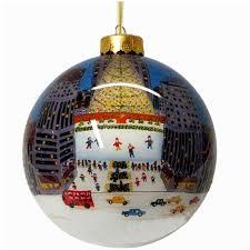 rockefeller center glass ornament