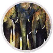 elephant herd painting by paul dene marlor