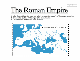Blank Map Britain by Map Of The Roman Empire Worksheet Year 7 Pdf