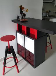 Stornas Bar Table Bar High Dining Table With Kallax Shelves Ikea Hackers Ikea