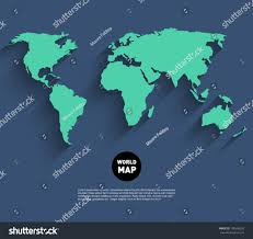 vector world map background long shadow stock vector 196596932
