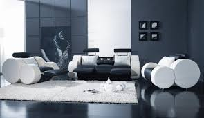 White Living Room Set Black White Leather Modern 3pc Living Room Set T17