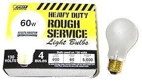 rough service light bulbs pc 60 watt rough service light bulb set
