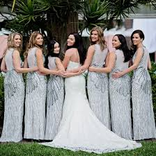 silver bridesmaid dresses silver sequin bridesmaid dresses naf dresses