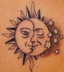 tatuaggio sole e stelle ideas tatoo