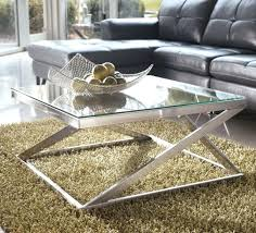 brushed nickel coffee table brushed nickel end table glass top metal square cocktail coffee