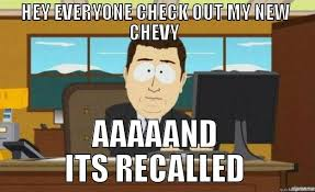 Funny Chevy Memes - images of chevy recall memes spacehero