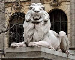 new york library bookends timely wisdom nypl lions