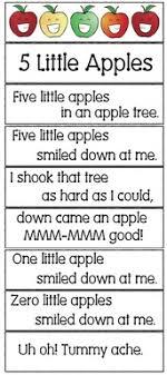 5 apples in an apple tree song apple activities apple